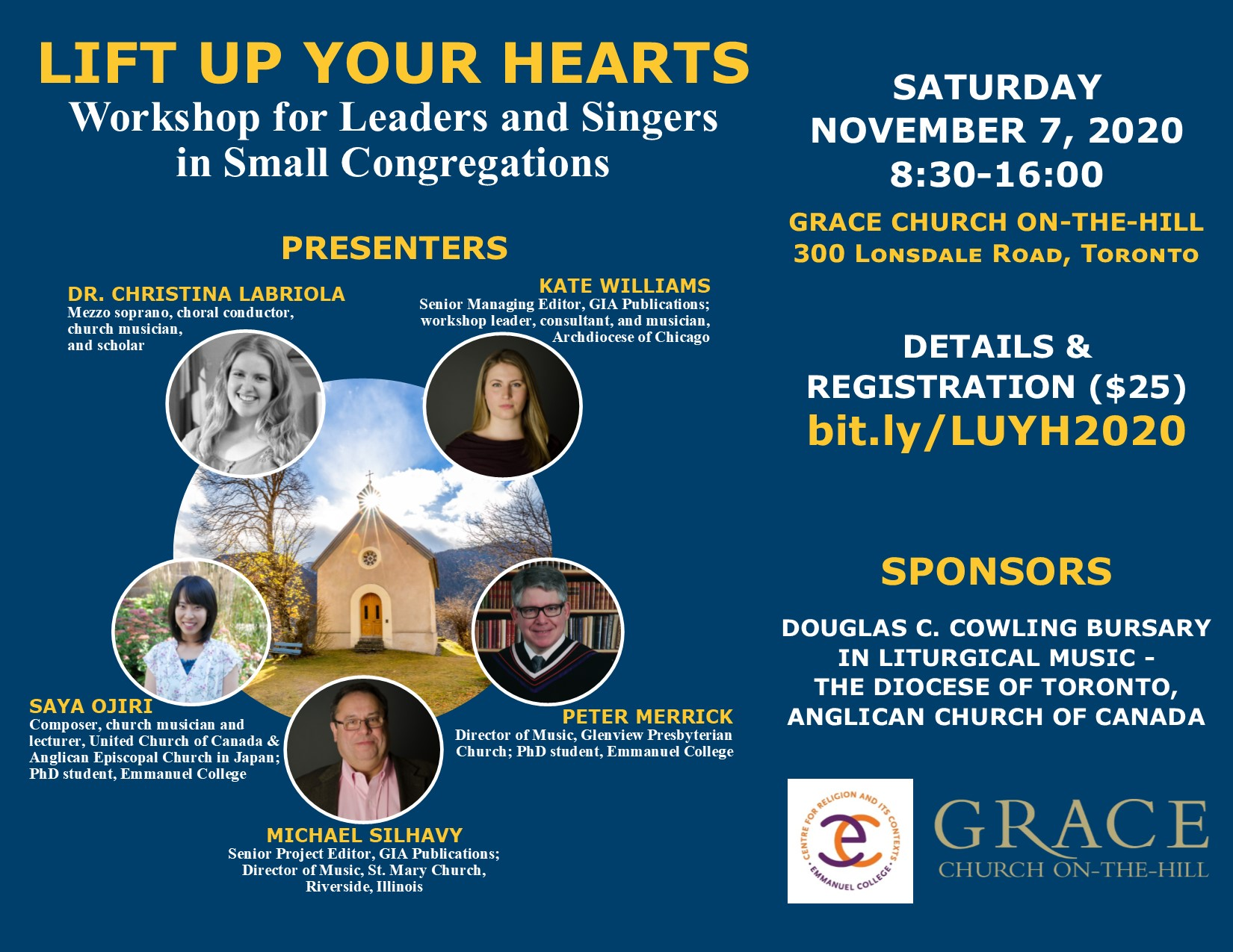 Lift up Your Hearts – Workshop of Leaders and Singers in Small Congregations – POSTPONED TO SPRING 2020